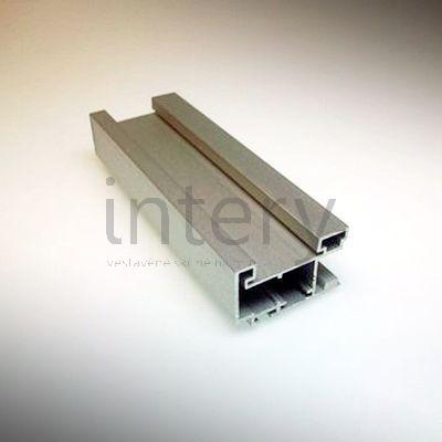 Rám posuvných dveří vestavěné skříně stříbrný Minimax