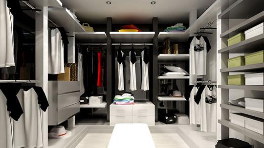 Skříně a vybavení do šatny