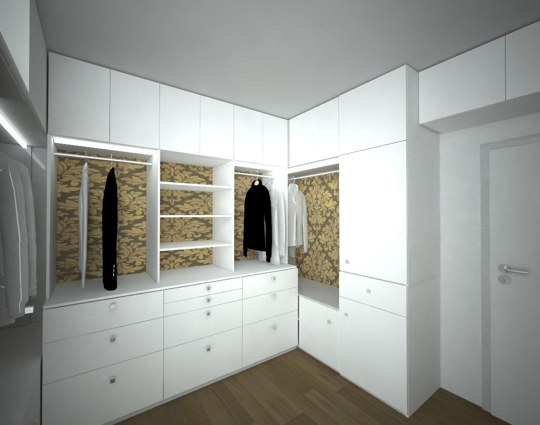 Vestavěné skříně do šatny