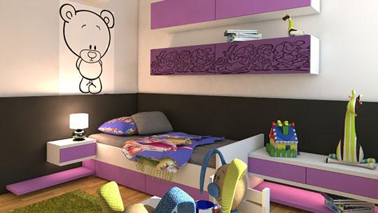 Nábytek do dětského pokoje.
