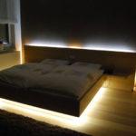 Osvětlená postel na míru