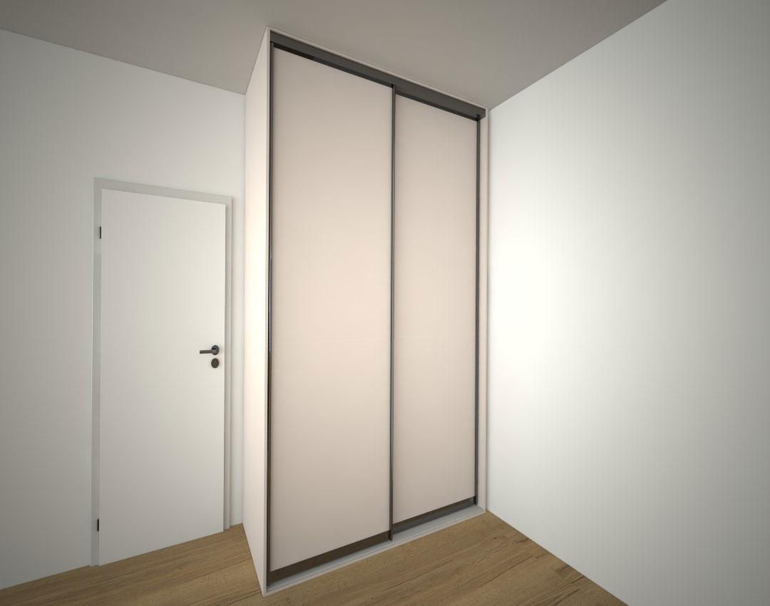 Malá vestavná skříň s posuvnými dveřmi