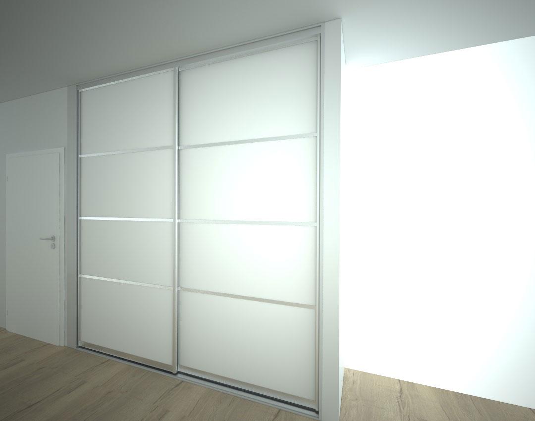 Skříň na míru s posuvnými dveřmi do ložnice