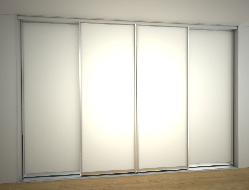 Skříň na míru se čtyřmi posuvnými dveřmi