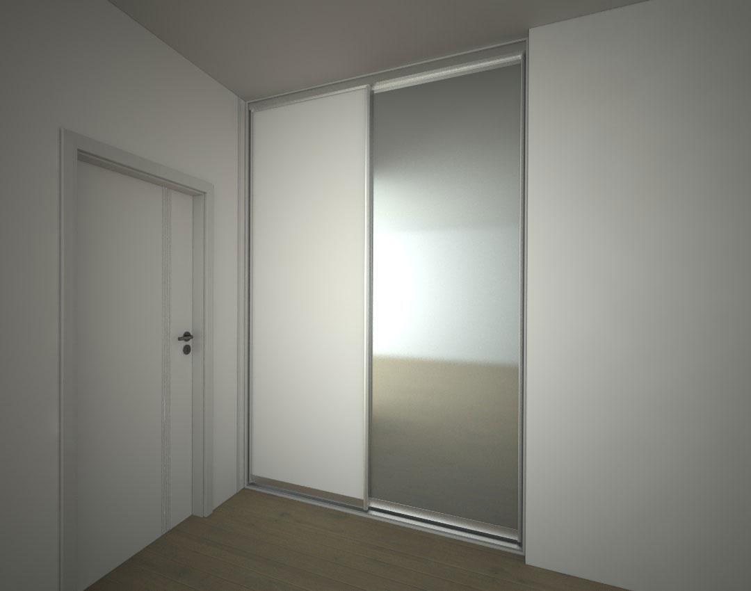 Skříň na míru do chodby s posuvnými dveřmi