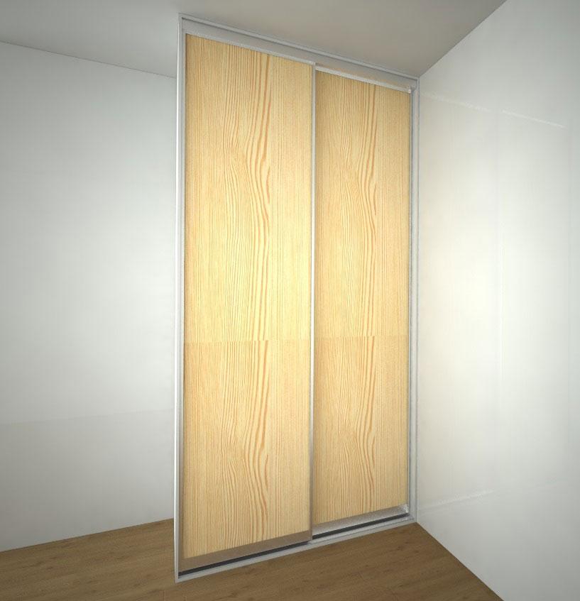 malá vestavěná skříň s posuvnými dveřmi s hliníkovým rámem