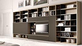 Knihovna s televizí na míru