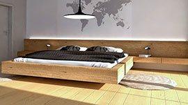 Nábytek do ložnice s postelí na míru.