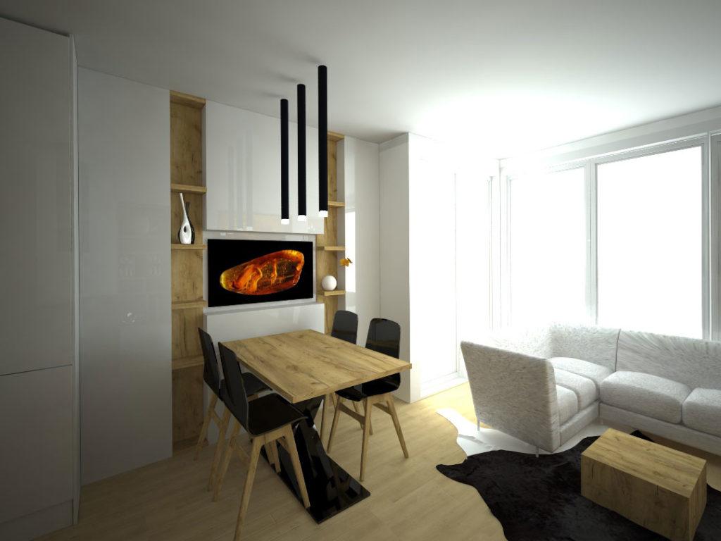 Návrh kompletního interieru vč. jídelního koutu Praha 4