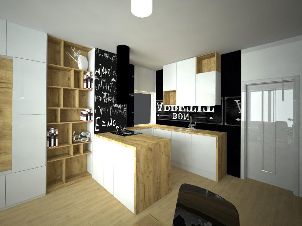 Návrh kompletního interieru vč. kuchyně Praha 4
