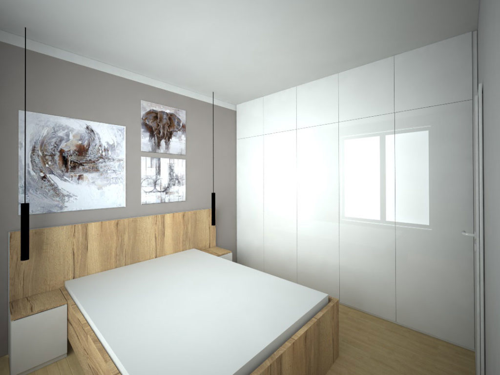 Návrh kompletního interieru vč. ložnice Praha 4