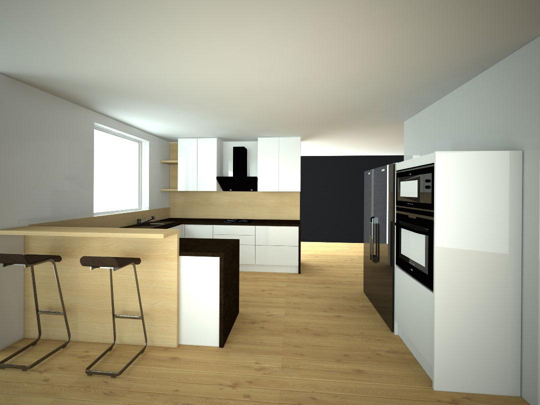 Návrh kompletního interieru vč. kuchyně Praha 10
