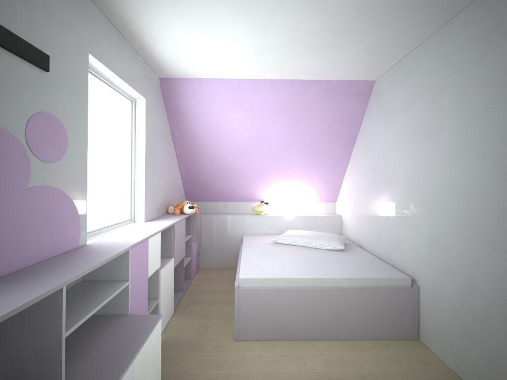 Návrh kompletního interieru vč. postele do dětského pokoje Praha 10
