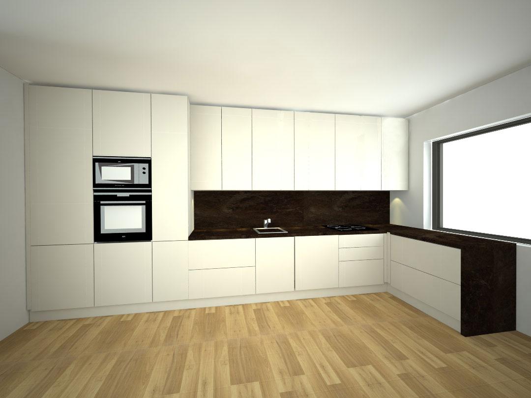 Návrh kompletního interieru vč. kuchyně Praha 5