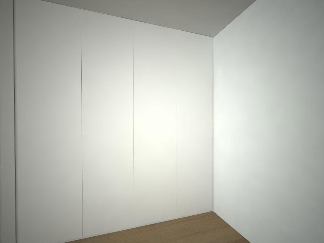 Návrh kompletního interieru vč. skříně do ložnice Praha 3