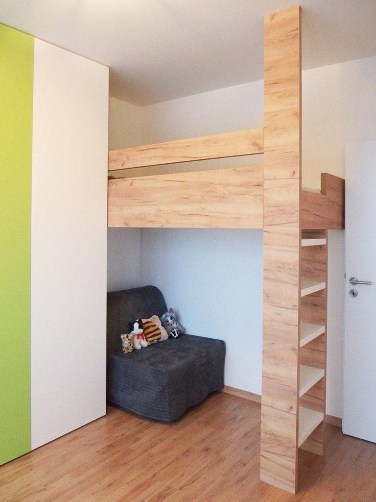 Realizace kompletního interieru vč. dětského pokoje s patrovou postelí Praha 9