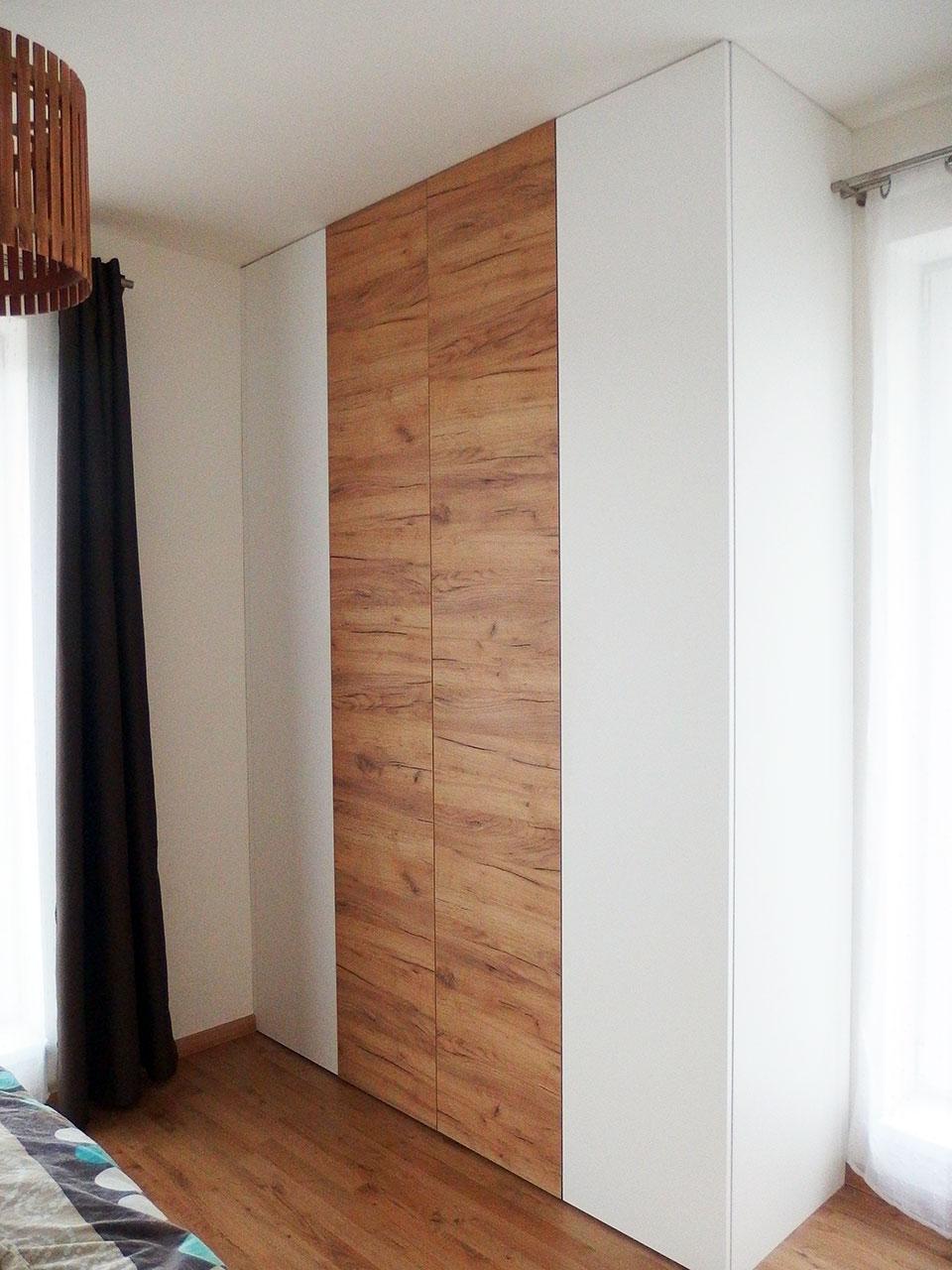 Realizace kompletního interieru vč. skříně na míru do ložnice Praha 9