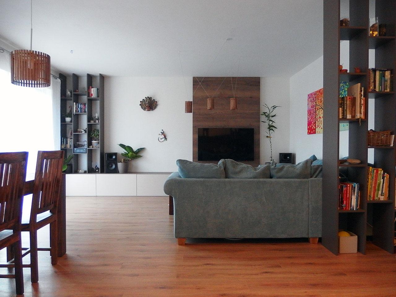 Realizace kompletního interieru vč. obývací části Praha 9