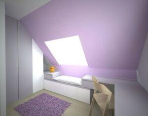 Podkrovní skříň s pantovými dveřmi